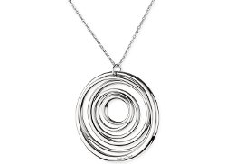 Calvin Klein  - Stainless Steel Circle Pendant Necklace