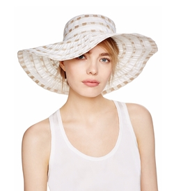 Bettina - Packable Two-Tone Ribbon Floppy Hat