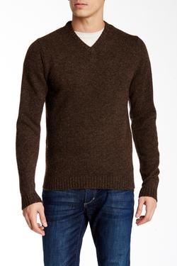 Weatherproof  - Shetland Wool V-Neck Sweater