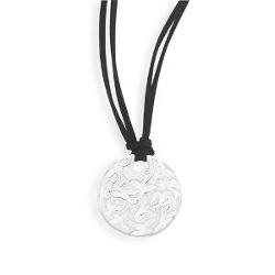 AzureBella Jewelry - Dove Design Sterling Silver Black Suede Necklace