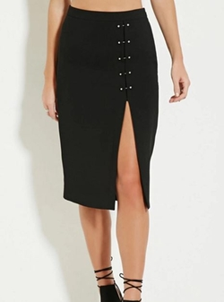 Forever 21 - Embellished High-Slit Skirt