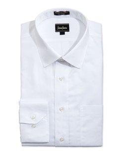 Neiman Marcus - Non-Iron Classic-Fit Textured Dress Shirt
