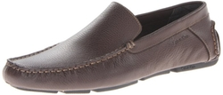 Calvin Klein - Tumbled-Leather Slip-On Loafers