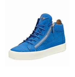Giuseppe Zanotti - Crocodile-Embossed Leather Sneakers
