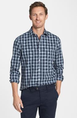 Nordstrom  - Smartcare Wrinkle Free Trim Fit Plaid Sport Shirt