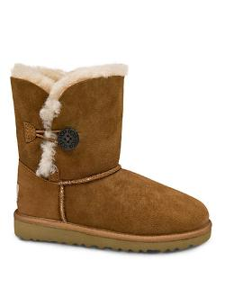 Ugg Australia  - Kids Bailey Button Sheepskin Boots