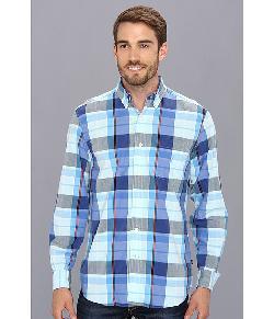 Nautica  - Mercerized Plaid Button Down Shirt