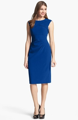 Adrianna Papell - Pleated Crepe Dress