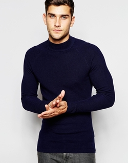 Selected Homme - Navy Turtleneck Sweater