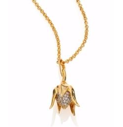 Eddie Borgo  - Pavé Crystal Bud Pendant Necklace