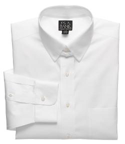 Jos. A. Bank  - Traveler Pinpoint Solid Tab Collar Dress Shirt