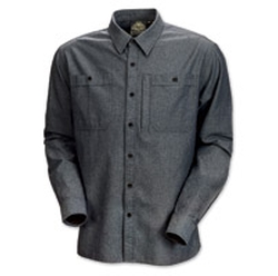 Roland Sands Design - Wyatt Charcoal Chambray Shirt
