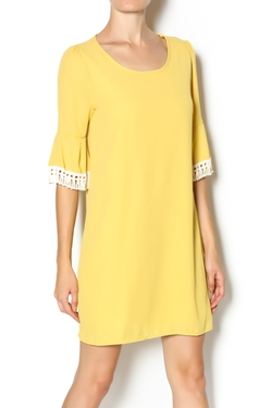 Bright Pink Boutique - Mustard Lace Dress