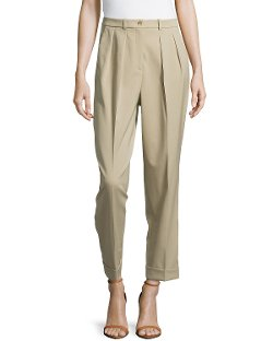 Michael Kors  - Slim Pleated Cuffed Pants