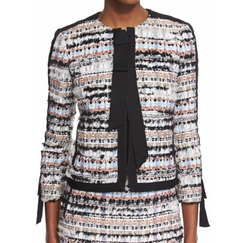 Oscar de la Renta - Ribbon-Edged Tweed Jacket