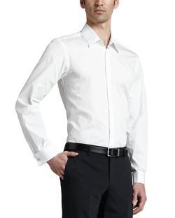 Versace Collection  - Tuxedo Shirt, White