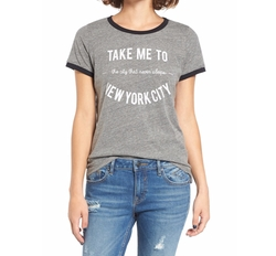 Project Social T - Take Me to New York Ringer Tee