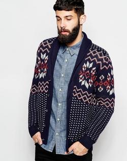 Wrangler - Pattern Knit Shawl Cardigan