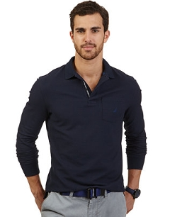 Nautica - Solid Pique Performance Polo Shirt