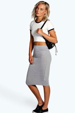Boohoo - Gemma Colour Block Midi Skirt