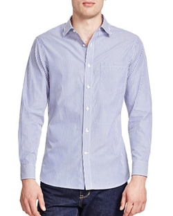 Kent and Curwen  - Tailored Bengal Stripe Slim Fit Button Down Shirt