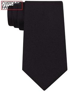Calvin Klein  - Silver Spun Solid Slim Tie