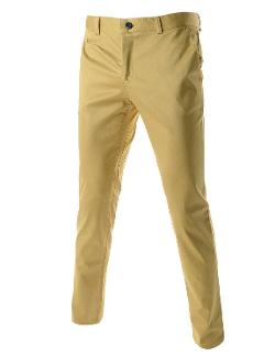 TheLees  - Slim Fit Stretchy Straight Basic Business Dress Pants