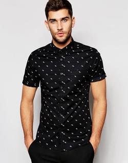 Asos - Ditsy Fluorescent Print Shirt