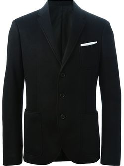 Neil Barrett - Three Button Jersey Blazer