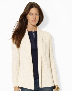 Ralph Lauren - Cable-Knit Shawl Cardigan