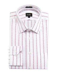 Neiman Marcus  - Classic-Fit Regular-Finish Checkered Dress Shirt