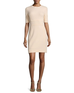 Michael Kors Collection - Alf-Sleeve Jewel-Neck Sheath Dress