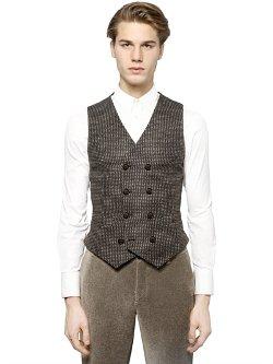Giorgio Armani  - Bouclé Wool Blend Jacquard Vest