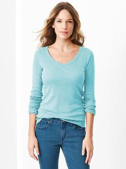 Gap - Favorite Long-Sleeve V-Neck Tee