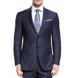 Ermenegildo Zegna - Trofeo Wool Tonal Plaid Two-Piece Suit