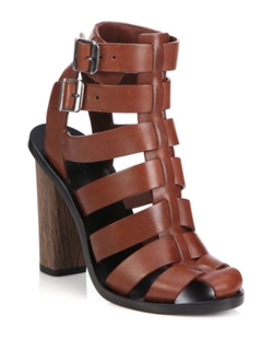 Vince  - Nicolette Leather Caged Gladiator Sandals