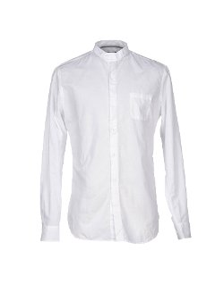 Paolo Pecora - Plain Weave Mandarin Collar Shirt