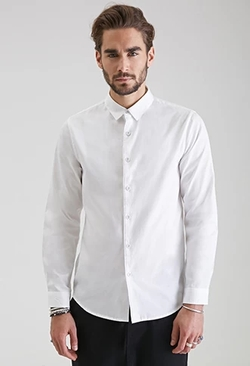 21 Men - Classic Collared Button-Down Shirt
