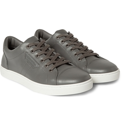 Dolce & Gabbana - Leather Low-Top Sneakers