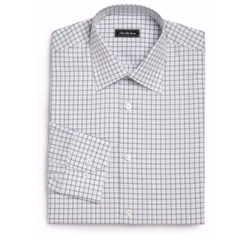 Saks Fifth Avenue Collection  - Regular-Fit Checked Dress Shirt