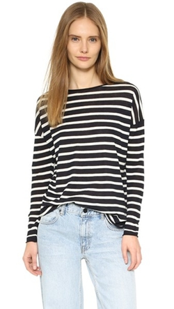 Nili Lotan  - Striped Crew Neck Sweater