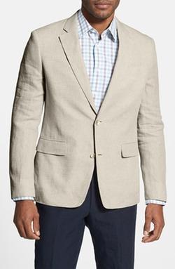 Nordstrom  - Trim Fit Linen Blazer