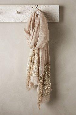 Anthropologie - Glimmered Wool-Silk Scarf