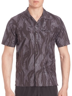 Ovadia & Sons  - Beach Camo Tiger Print Shirt