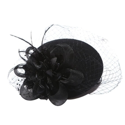 Aniwon - Feather Fascinator Flower Hat