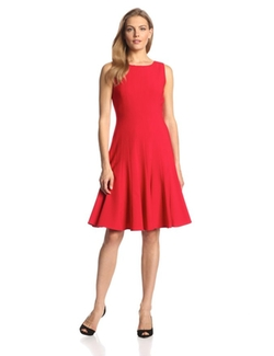 Calvin Klein - Sleeveless Solid Fit-And-Flare Dress
