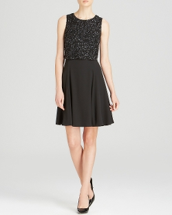 Armani Collezioni Dress - Embroidered Sequin Bodice Dress