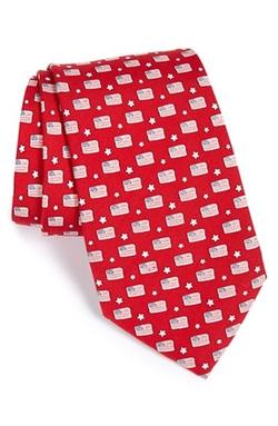 Vineyard Vines - Flag Print Tie