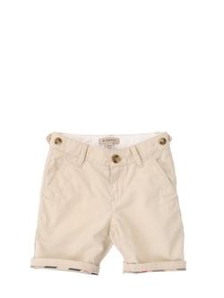 Burberry - Cotton Gabardine Shorts