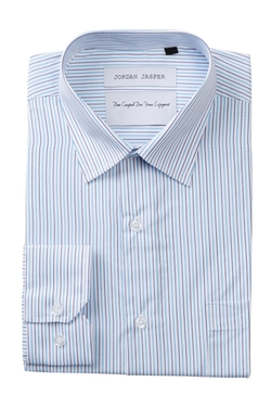 Complicated Shirts - Sud Long Sleeve Regular Fit Stripe Dress Shirt